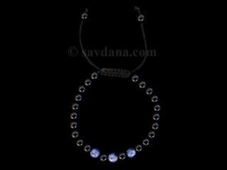 BrMala352 Bracelet Mala Onyx Sodalite. 21 cm
