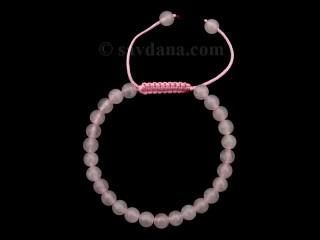 BrMala363 Bracelet Mala Quartz Rose. 20 cm