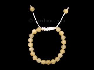 BrMalaEnfant04 Bracelet Mala Jade Jaune. 12 cm