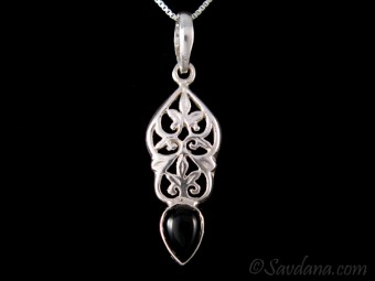 PA522 Pendentif Argent Massif Onyx