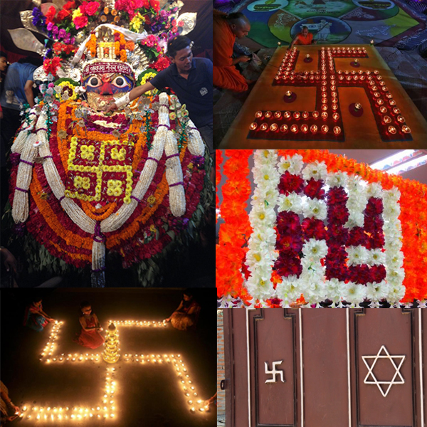 Swastika Hindou et Bouddhiste