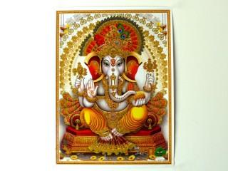 AF96 Affiche du Népal Ganesh Om