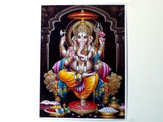 AF97 Affiche du Népal Ganesh Om