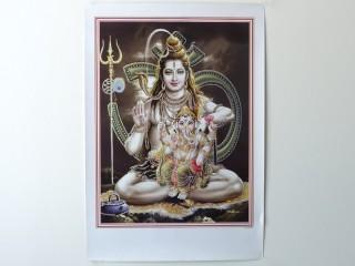 AF99 Affiche du Népal Shiva Ganesh Om