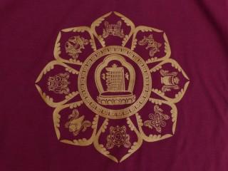 TSrt40 T-Shirt Mandala Signes Auspicieux Kalachakra