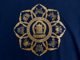 TSrt42 T-Shirt Mandala Signes Auspicieux Kalachakra