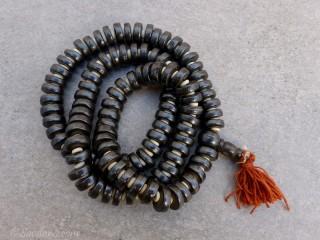 Mala112 Mala de Prières Tibétain Os de Buffle
