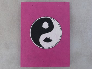 CrA144 Carnet Artisanal Népalais Yin Yang