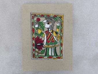 CrA150 Carnet Artisanal Népalais Art Mithila