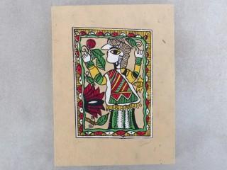 CrA152 Carnet Artisanal Népalais Art Mithila