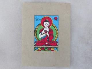 CrA174 Carnet Artisanal Népalais Bouddha