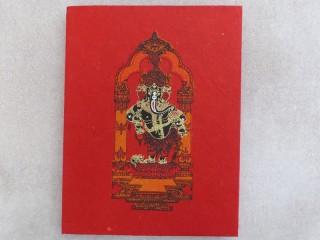 CrA181 Carnet Artisanal Népalais Ganesh