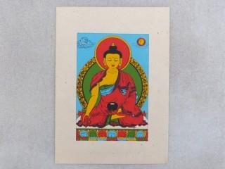 Carte03 Carte Artisanale Népalaise Bouddha