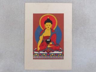 Carte04 Carte Artisanale Népalaise Bouddha