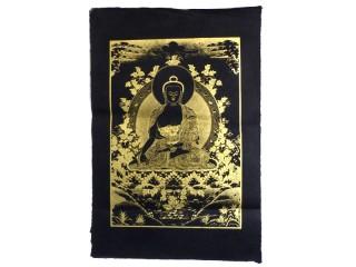 AF111 Affiche Tibétaine Papier Népalais Bouddha
