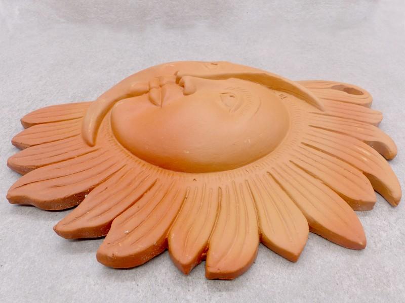 tcc48 soleil et lune en terre cuite artisanat du n pal. Black Bedroom Furniture Sets. Home Design Ideas