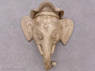 TCC61 Tête d'éléphant en terre cuite