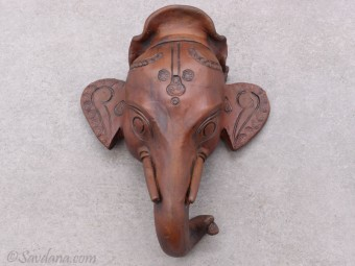 TCC64 Tête d'éléphant en terre cuite