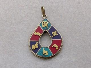 P88 Pendentif Tibétain Mantra