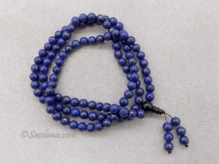 Mala135 Mala de Prières Tibétain Lapis Lazuli
