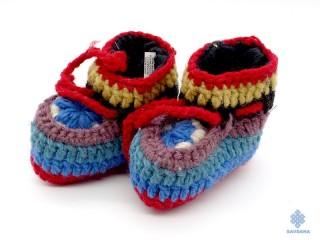 Chs05 Chaussons Chaussettes Enfant en Laine du Népal