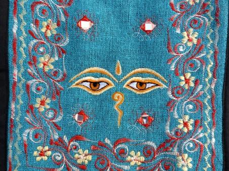 Sac82 Sac Besace du Népal Yeux de Bouddha