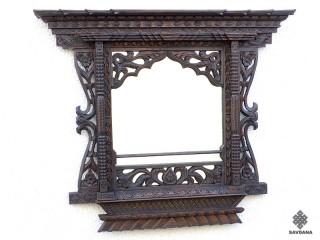 Mir03 Miroir Fenêtre Népalaise