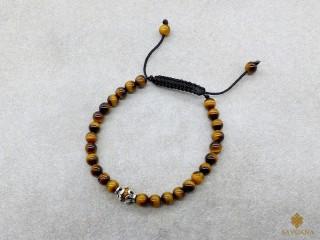 BrMala347 Bracelet Mala Oeil de Tigre. 21 cm
