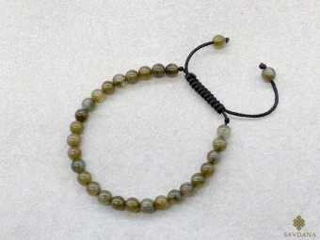 BrMala380 Bracelet Mala de Prières Tibétain Labradorite