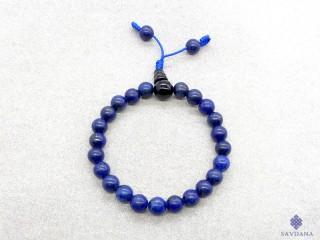 BrMala313 Bracelet Mala de Prières Tibétain Lapis Lazuli