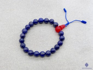 BrMala320 Bracelet Mala de Prières Tibétain Lapis Lazuli