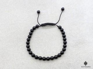 BrMala335 Bracelet Mala de Prières Tibétain Onyx