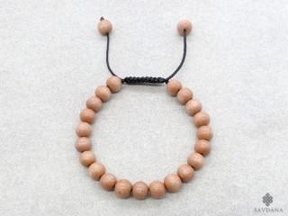 BrMala357 Bracelet Mala de Prières Tibétain Bois. 22 cm