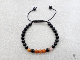 BrMala385 Bracelet Mala Onyx Agate. 20 cm