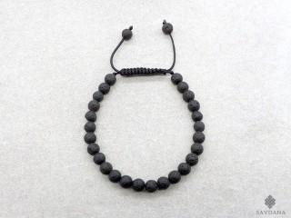BrMala396 Bracelet Mala Pierre de Lave