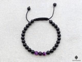 BrMala397 Bracelet Mala Onyx Agate