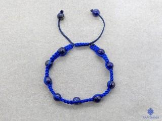 BrMala407 Bracelet Mala Lapis Lazuli. 16 cm