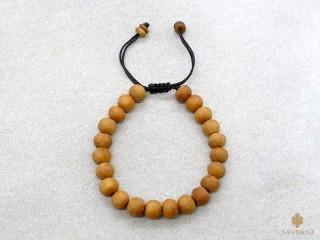 BrMala410 Bracelet Mala de Prières Tibétain Bois. 18 cm