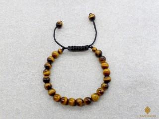 BrMalaEnfant07 Bracelet Mala Oeil de Tigre. 13 cm