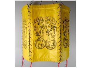 AJ16 Abat-Jour Empreintes de Pieds de Bouddha 6 faces