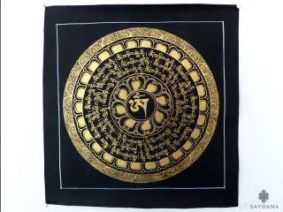 PNT11 Thangka (Peinture Tibétaine) Mandala Mantra Om