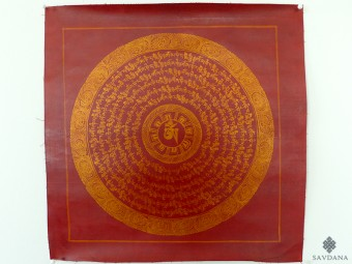 PNT12 Thangka (Peinture Tibétaine) Mandala Mantra Om