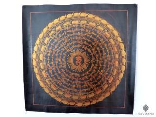 PNT13 Thangka (Peinture Tibétaine) Mandala Mantra Om
