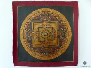 PNT15 Thangka (Peinture Tibétaine) Mandala Om