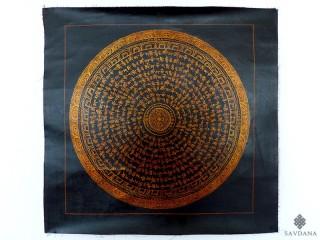 PNT16 Thangka (Peinture Tibétaine) Mandala Mantra Dorje