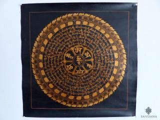 PNT17 Thangka (Peinture Tibétaine) Mandala Mantra Om