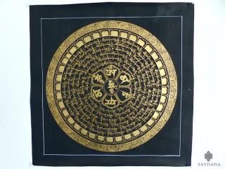 PNT18 Thangka (Peinture Tibétaine) Mandala Mantra Om