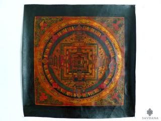 PNT25 Thangka (Peinture Tibétaine) Mandala Om