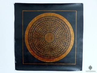 PNT26 Thangka (Peinture Tibétaine) Mandala Mantra Dorje