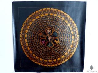 PNT27 Thangka (Peinture Tibétaine) Mandala Mantra Om